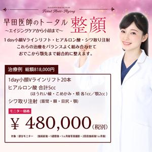 早田医師のトータル整顔イメージ